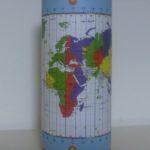 Un mappamondo cilindrico